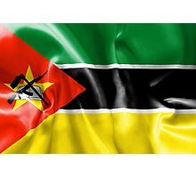 Mozambique Flag Photographic Print