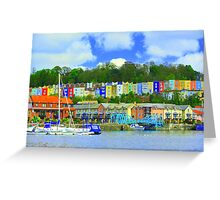 Bristol skyline in big colour  Greeting Card