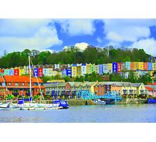 Bristol skyline in big colour  Photographic Print