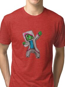 Minecraft Character Tri-blend T-Shirt