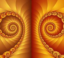 Beautiful Golden Spiral Fractal by Kitty Bitty