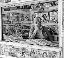 Paper Seller by mattwhitby