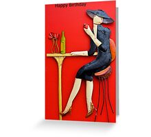 Female Birthday Card Greeting Card