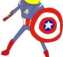Lemongrab as Captain America by izzycle