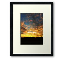 """""""The blood in my veins"""" Framed Print"""