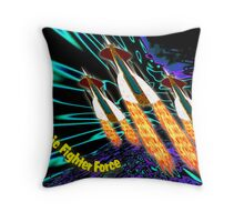 A Galactic Fighter Force on Patrol Throw Pillow