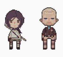 16-bit Lara Croft & Conrad Roth by ihatetombs