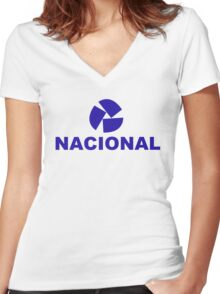 nacional 1 Women's Fitted V-Neck T-Shirt