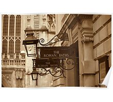 Roman Baths at Bath  Poster