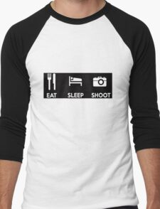 Eat Sleep Shoot Photographers Motto Shirts & Stickers Men's Baseball ¾ T-Shirt