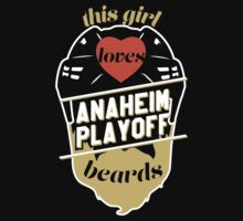 This Girl Loves ANAHEIM Playoff Beards! One Piece - Short Sleeve