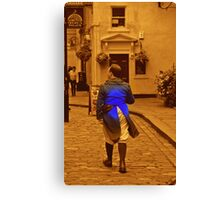 Man in Blue coat Canvas Print