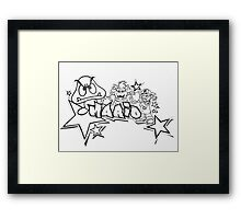Mario -Graffiti Bad Boy Framed Print
