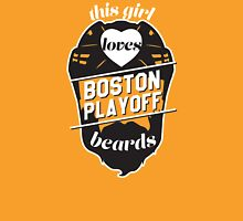 This Girl Loves BOSTON Playoff Beards! (Gold) Womens Fitted T-Shirt