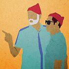 Zissou + Klaus by godzillagirl