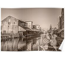 Wigan Pier on the Leeds Liverpool canal Poster