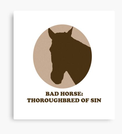 Thoroughbred of Sin Canvas Print