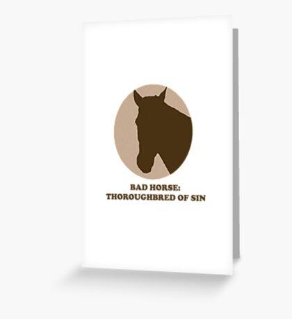 Thoroughbred of Sin Greeting Card
