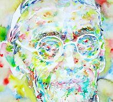 HERMANN HESSE - watercolor portrait.3 by lautir
