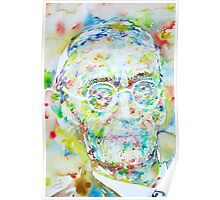 HERMANN HESSE - watercolor portrait.3 Poster
