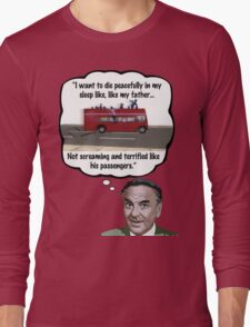Bob Monkhouse: Terrified Passengers Quote Long Sleeve T-Shirt