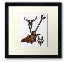 Vampir Guitar Framed Print