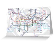 London Tube Greeting Card