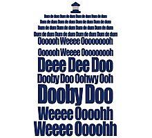 Doctor Who Theme Tune TARDIS - Simple Typography Photographic Print