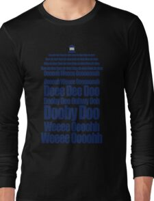 Doctor Who Theme Tune TARDIS - Simple Typography Long Sleeve T-Shirt