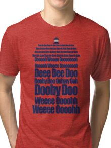 Doctor Who Theme Tune TARDIS - Simple Typography Tri-blend T-Shirt