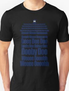 Doctor Who Theme Tune TARDIS - Simple Typography Unisex T-Shirt