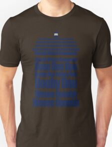 Doctor Who Theme Tune TARDIS - Simple Typography T-Shirt