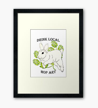 Drink Local-Hop Art Framed Print