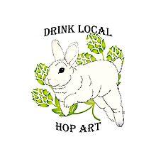 Drink Local-Hop Art Photographic Print