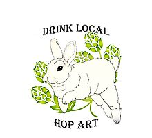Drink Local-Hop Art Photographic Print