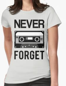 NEVER FORGET Cassette - Silicon Valley Parody with Tape Drawing T-Shirt