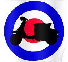 Lambretta Scooter target - Mods Poster