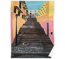 Escalones de San Juan Poster