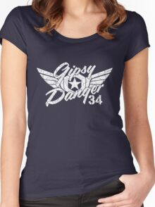 Gipsy Danger White Faded Women's Fitted Scoop T-Shirt