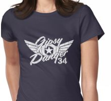 Gipsy Danger White Faded Womens Fitted T-Shirt