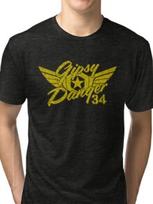 Gipsy Danger Faded Military Style Tri-blend T-Shirt