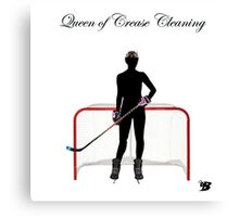 Queen of Crease Cleaning Canvas Print
