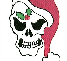 2013 Holiday ATC 10 - Santa Skull by ArtbyMinda