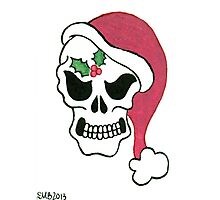 2013 Holiday ATC 10 - Santa Skull Photographic Print