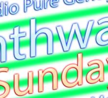 Synthwave Sunday Sticker