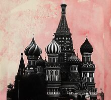 Kremlin with watercolors by Olga Perelman