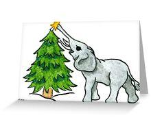2013 Holiday ATC 11 - Christmas Tree and Elephant Greeting Card