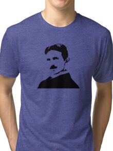 Nikola Tesla Portrait Tri-blend T-Shirt