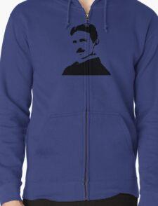 Nikola Tesla Portrait Zipped Hoodie