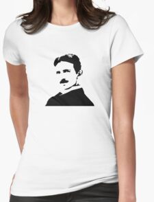 Nikola Tesla Portrait Womens Fitted T-Shirt